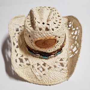 SOM HER Medium SeaShell Embellished Sun Hat